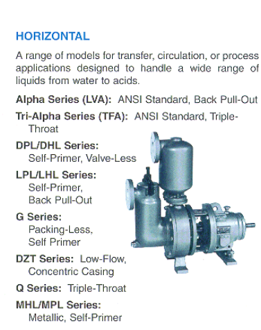 Horizontal Peerless Pumps